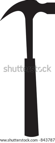 Hammer illustration - stock photo