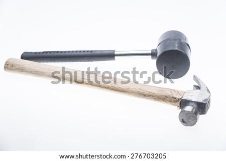 hammer isolated on white background - stock photo