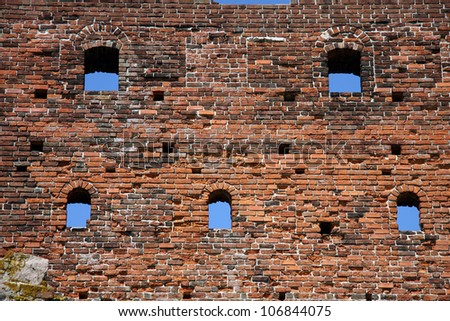 Hammershus is Northern Europe's largest medieval fortification. - stock photo