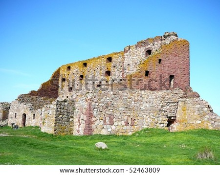 Hammershus, Northern Europe's Oldest Fortress on Bornholm - stock photo