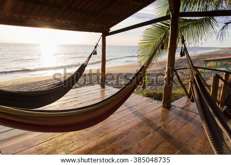 hammock in sunshine beach - stock photo