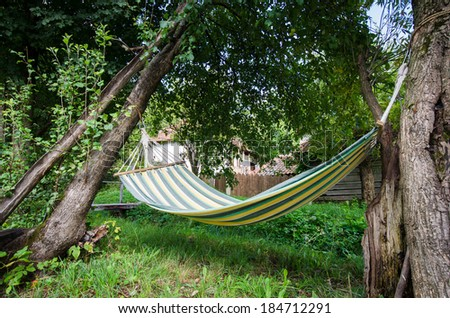 Hammock in the nature - stock photo