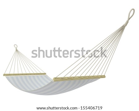 hammock on a white background - stock photo