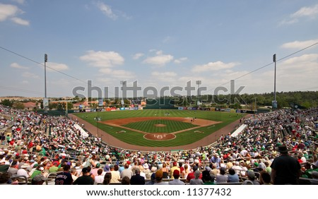 Hammond Stadium in Ft. Myers Florida, site of Minnesota Twins spring training - stock photo