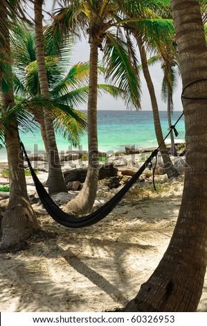 Hammoz in white sand beach mexico - stock photo