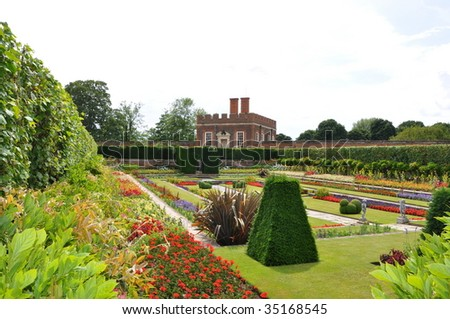 Hampton Court Garden - stock photo