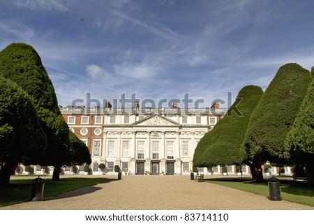 Hampton Court Palace in England, UK - stock photo