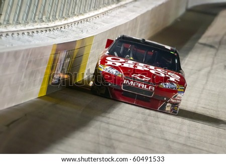 HAMPTON, GA - SEP 05:  Tony Stewart wins the Emory Healthcare 500 race at the Atlanta Motor Speedway in Hampton, GA on Sep 05, 2010. - stock photo