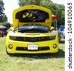 HAMPTON, VA-JUNE 9:A Yellow Chevy Camaro at the 3rd annual HCS car show at the Hampton Christian School in Hampton Virginia, 2012 in Hampton Virginia on June 9, 2012. - stock photo