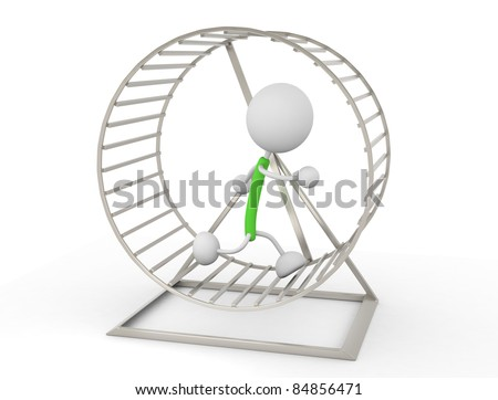 Hamster Wheel - stock photo