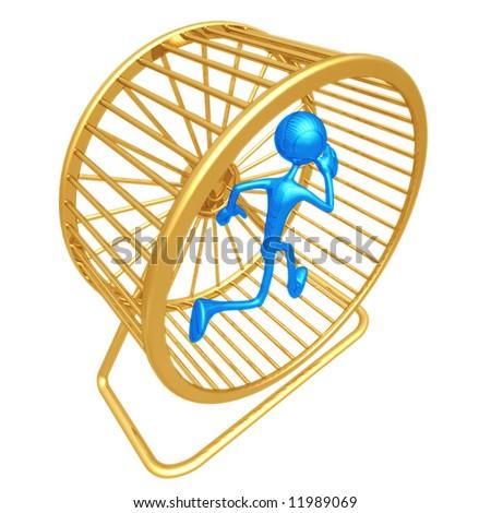 Hamster Wheel Runner - stock photo