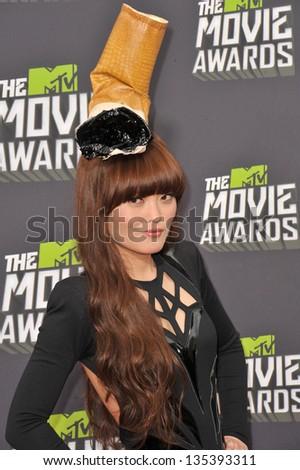 Hana Mae Lee at the 2013 MTV Movie Awards at Sony Studios, Culver City. April 14, 2013  Los Angeles, CA Picture: Paul Smith - stock photo