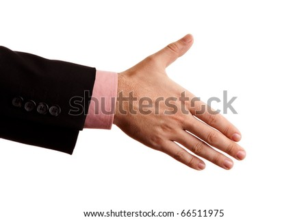 Hand a business person who is willing to make a deal - stock photo