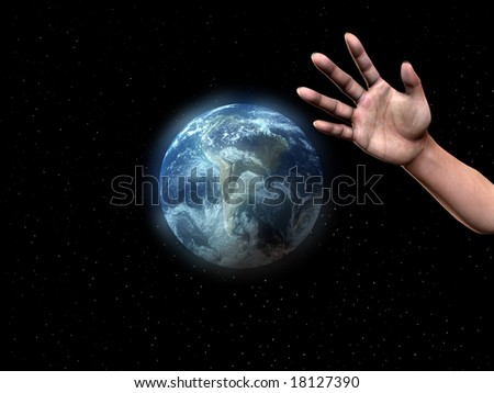 Hand About To Grab Earth