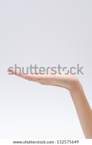 Hand action - stock photo