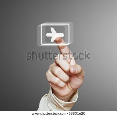 hand airplane - stock photo