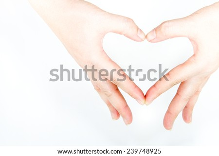 Hand and a heart to love and care.