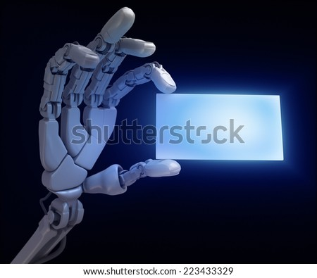Hand and blank - stock photo