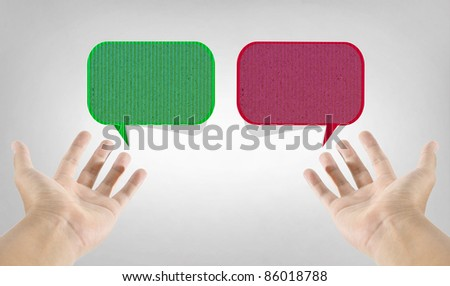 hand and finger social network - stock photo