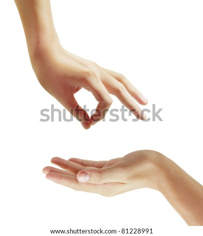 Hand, and Picking - stock photo