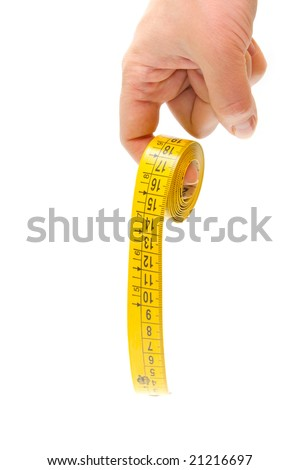 Hand and tape-measure