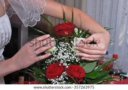 Hand Arranging Flower