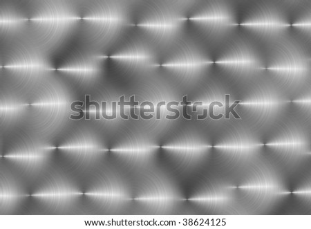 Hand Brushed Silver - stock photo