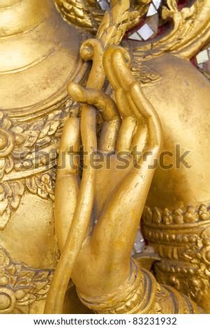 Hand Buddha - stock photo