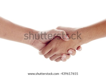 hand business isolated