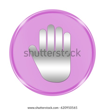"hand button isolated. ""3d illustration"""
