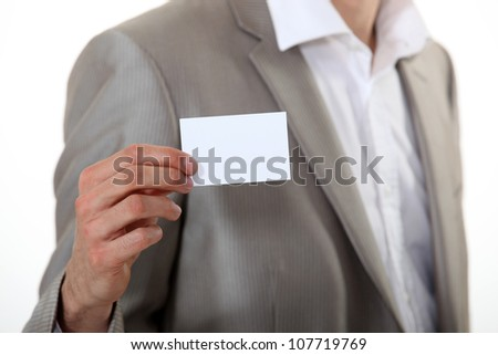 Hand card showing male - stock photo