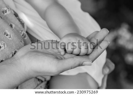Hand children - stock photo