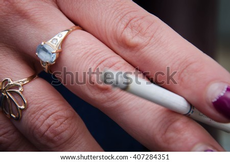 Hand cigarette,smoke