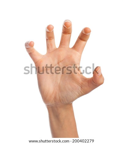hand claw gesture