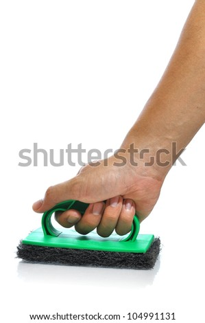 Hand clean on white background. - stock photo