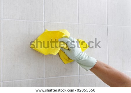 Hand cleaning wall.
