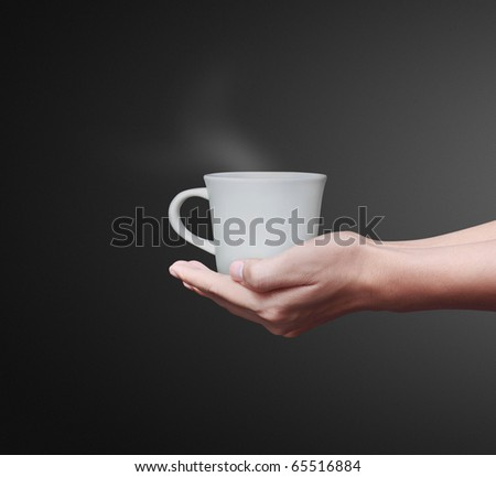 hand Coffee - stock photo
