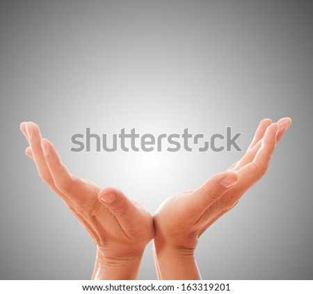 Hand concept. Close up isolated - stock photo
