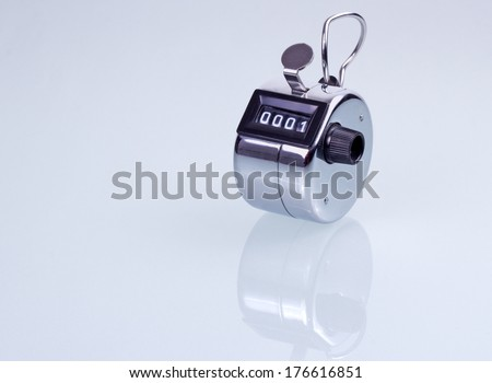 Hand counter clicker- isolated in white