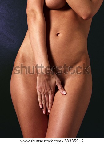 Hand cover - stock photo