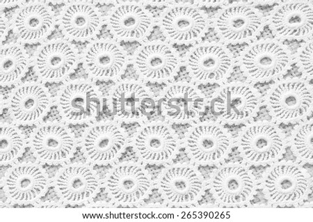 Hand-crocheted details - stock photo