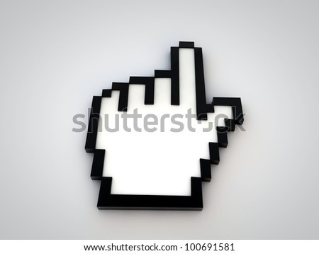 hand cursor isolated on white background