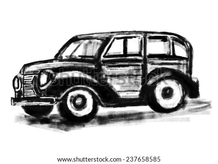 Old Car Isolated Stock Images Royalty Free Images Vectors