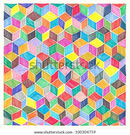hand draw marker abstract background - stock photo