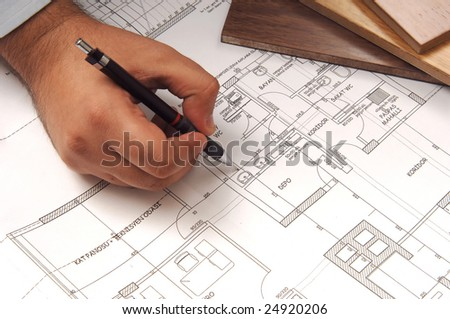 hand draw plan for architecture