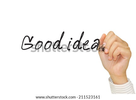 "hand drawing concept ""good idea "" - stock photo"