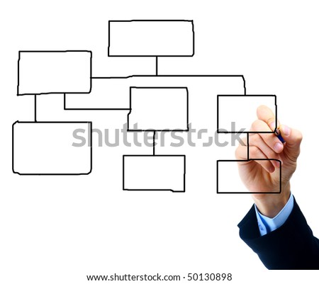 Hand drawing diagram isolated on white background