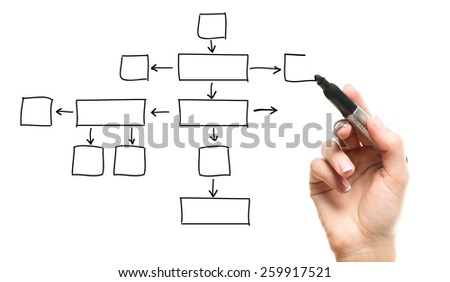 Hand drawing empty diagram - stock photo