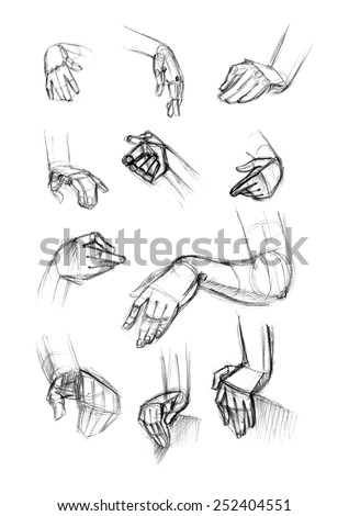 hand drawing in turns - stock photo