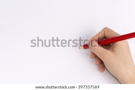 Hand drawing, writing
